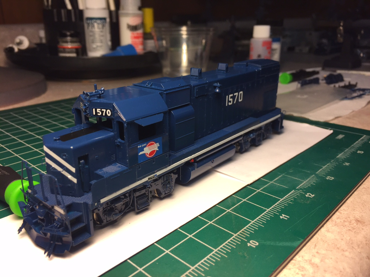 decals done; prior to handrails and weathering