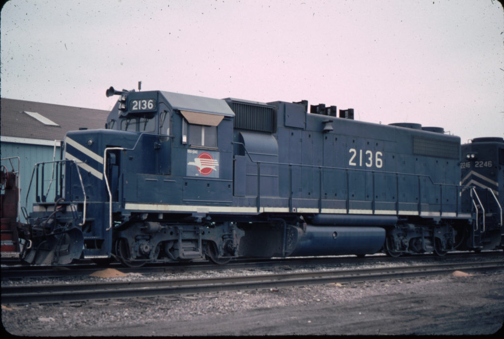 MP 2136 sitting at West Frankfort on ready track